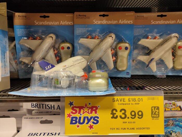 SAS model plane B&M bargains