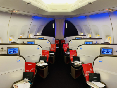 Virgin Atlantic 747 Upper Class cabin