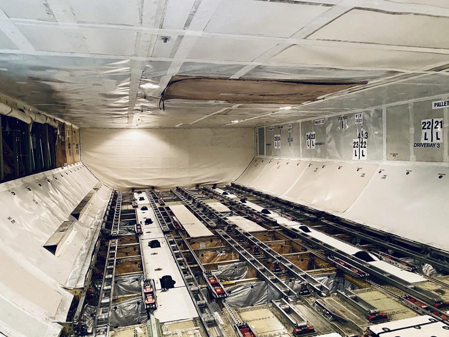 Virgin Atlantic 747 cargo hold