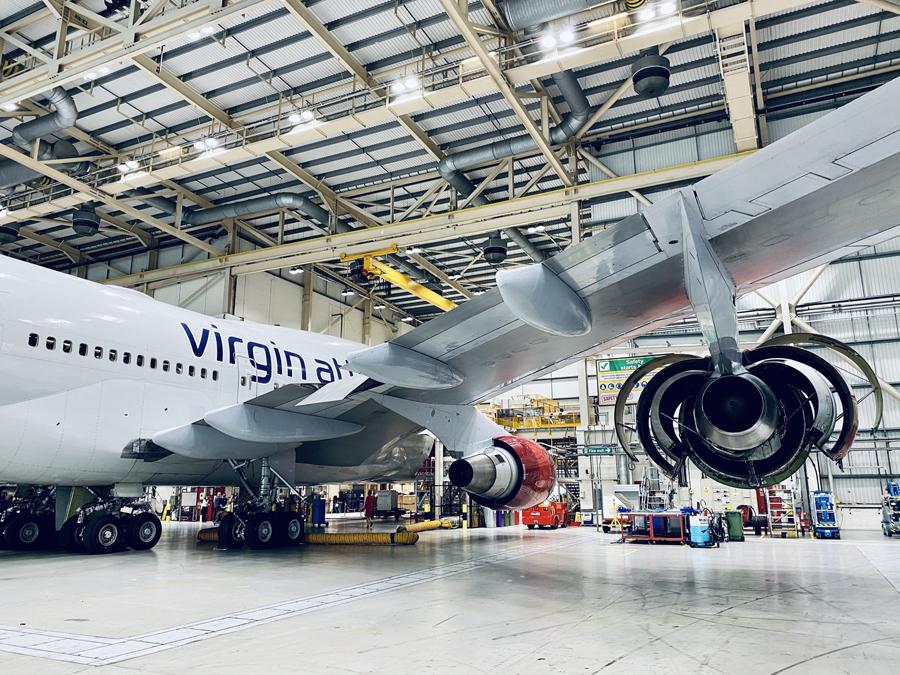 Virgin Atlantic 747 GE CF6 engine