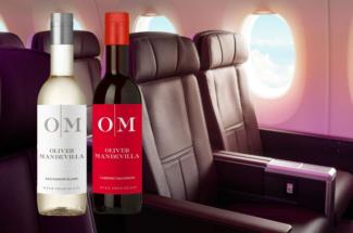 Virgin Atlantic Oliver Mandevilla wine