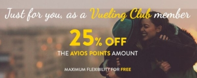 Save 25% on Vueling Avios redemptions