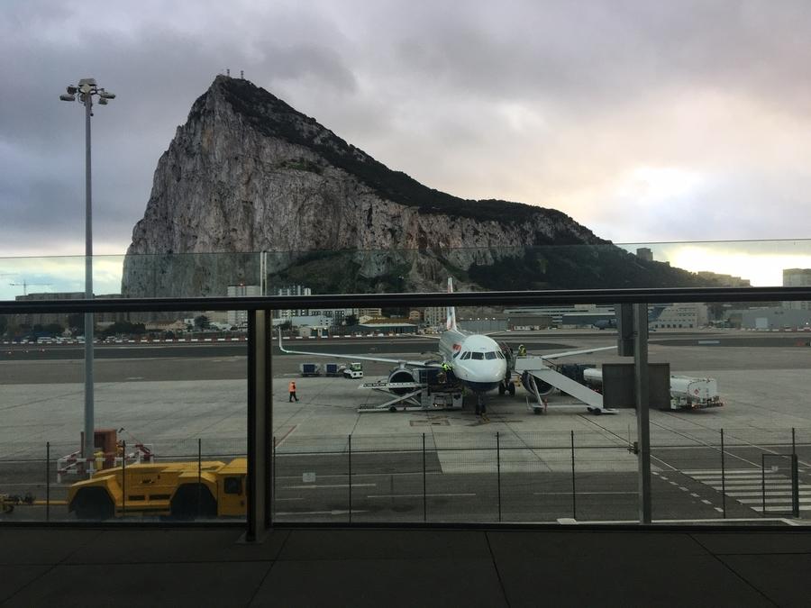 Worlds best departure lounge Gibraltar