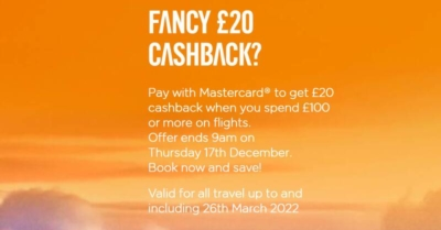 easyjet £20 mastercard offer