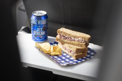 British Airways Eurotraveller Tom Kerridge ham hock smoked cheddar sandwich