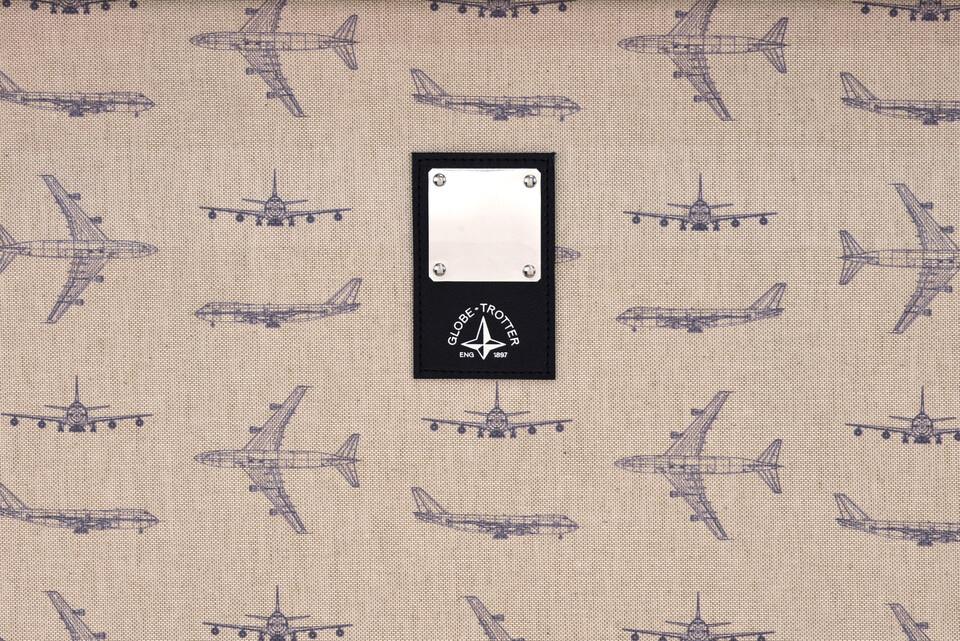 British Airways Globe-Trotter BOAC suitcase 747 fuselage fragment