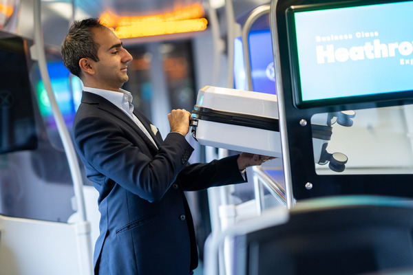 Heathrow Express luggage rack