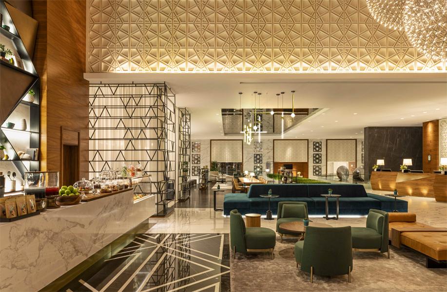 Sheraton Grand Dubai lobby community table