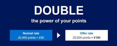Double value for membership rewards points