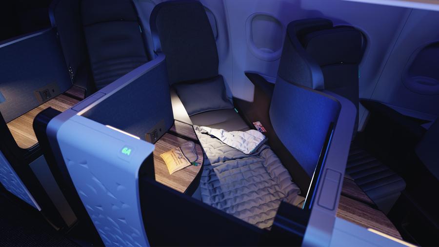 JetBlue A321LR Mint Suite bed sleep