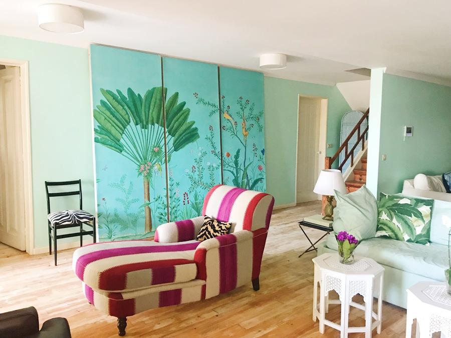 Madeira colourful tv room