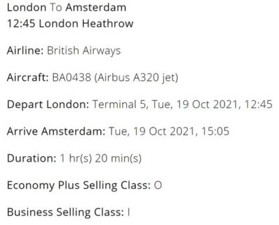 How to upgrade british airways economy flights with Avios