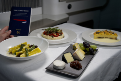British Airways Feast Box First Class meal kit 2