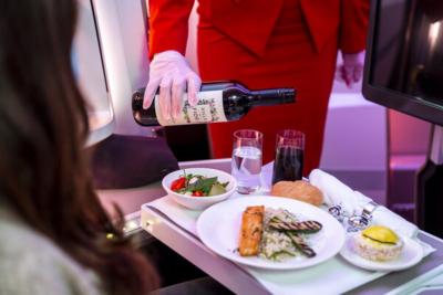 Virgin Atlantic Upper Class meal