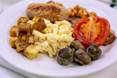 Virgin Atlantic Upper Class breakfast