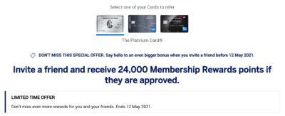 Amex referral bonus April 2021