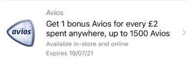 Avios Amex offer April 2021