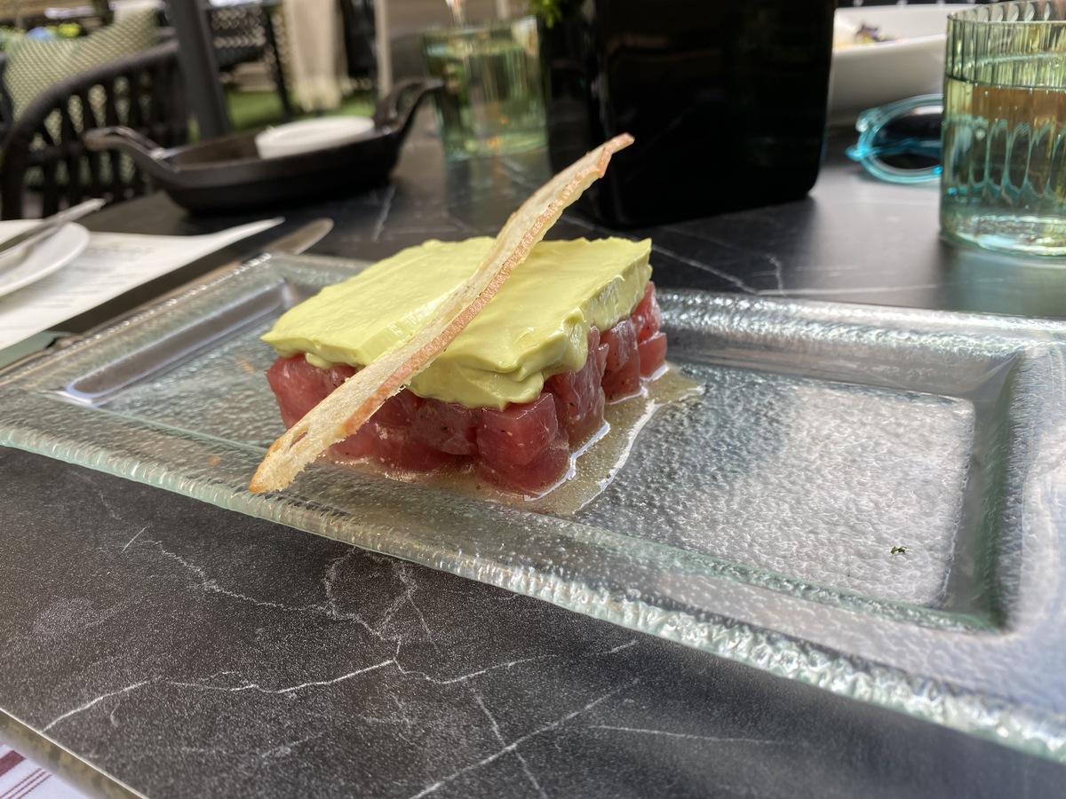 JW Marriott Grosvenor House forecourt tuna tartare