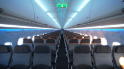 JetBlue transatlantic A321LR Core economy cabin 2