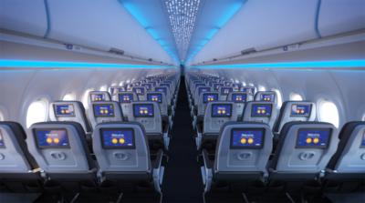 JetBlue transatlantic A321LR Core economy cabin
