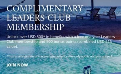 Free membership leaders club leading hotels of the world