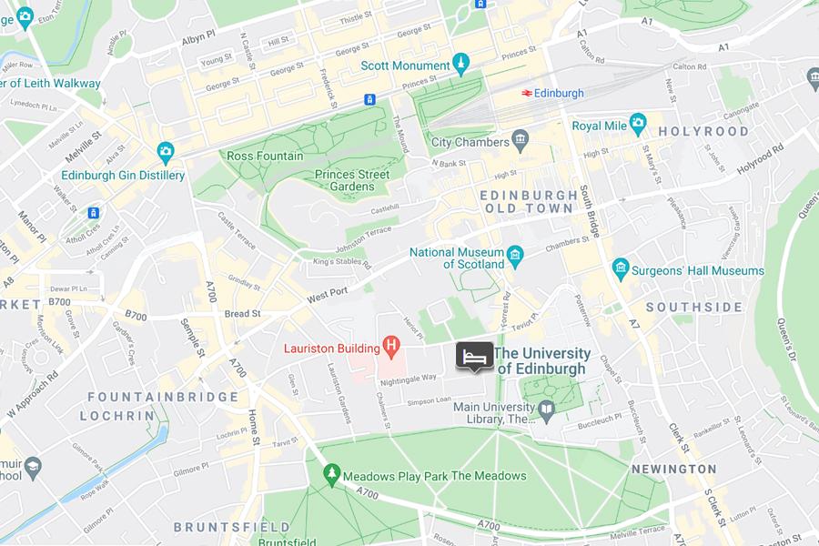 Residence Inn Edinburgh location