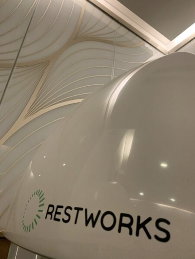 Restworks sleep pods British Airways lounge