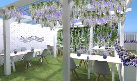 Wimbledon tennis American Express lounge