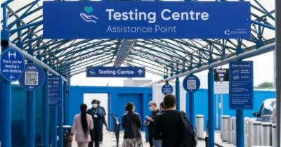 London City Airport covid testing centre