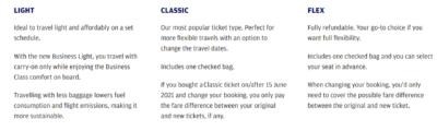 Finnair business light ticket rules