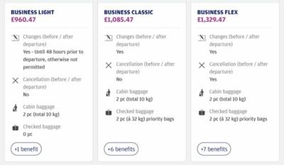 Finnair business light prices