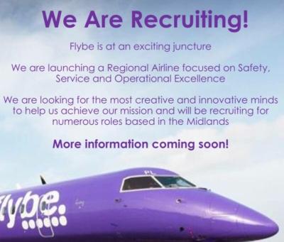 Flybe recruiting for Birmingham base