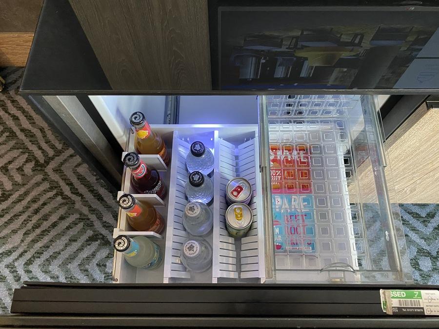 Hilton London Bankside mini bar