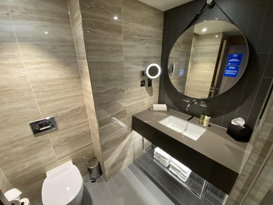 Hilton London Bankside shower room sink