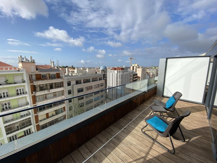 Moxy Lisbon City balcony