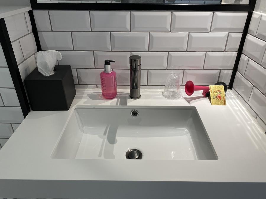 Moxy Lisbon City bathroom sink
