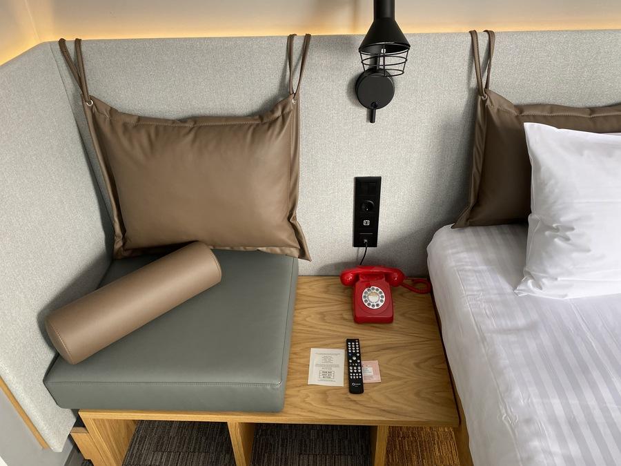 Moxy Lisbon City bedside table