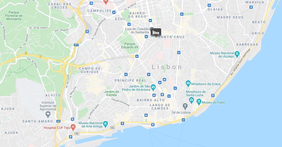 Moxy Lisbon City location