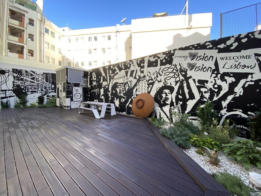 Moxy Lisbon City terrace