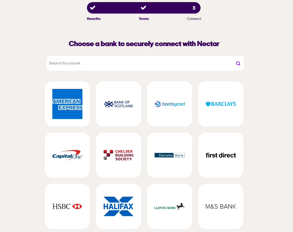 Nectar Connect banks
