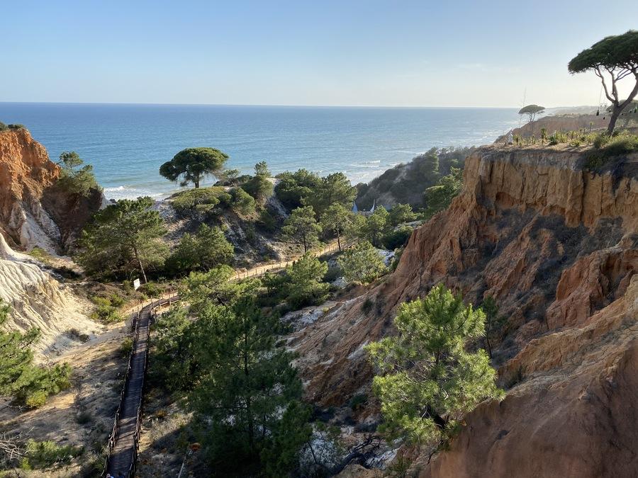 Pine Cliffs beach walk