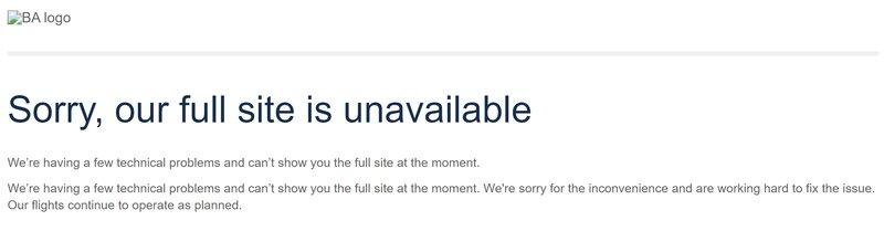 British Airways IT failure