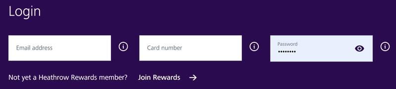 Heathrow Rewards website fixed