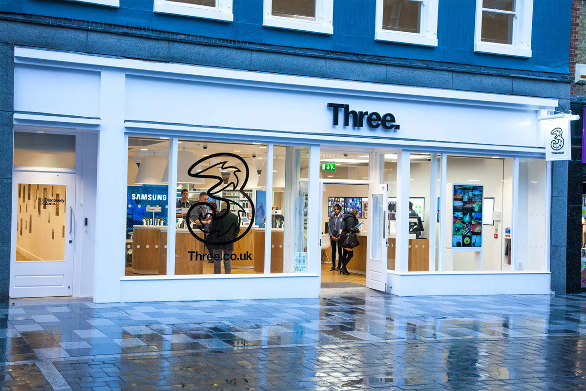Three shop front