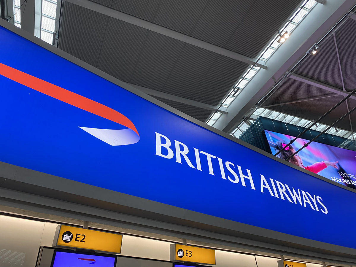 British Airways BA sign T5