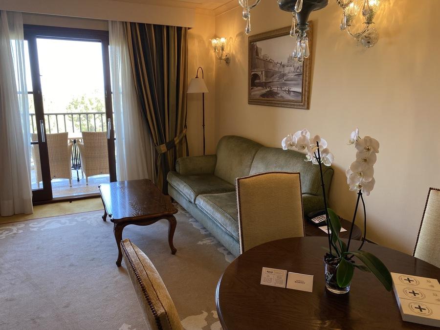 Castillo Hotel Son Vida suite living room