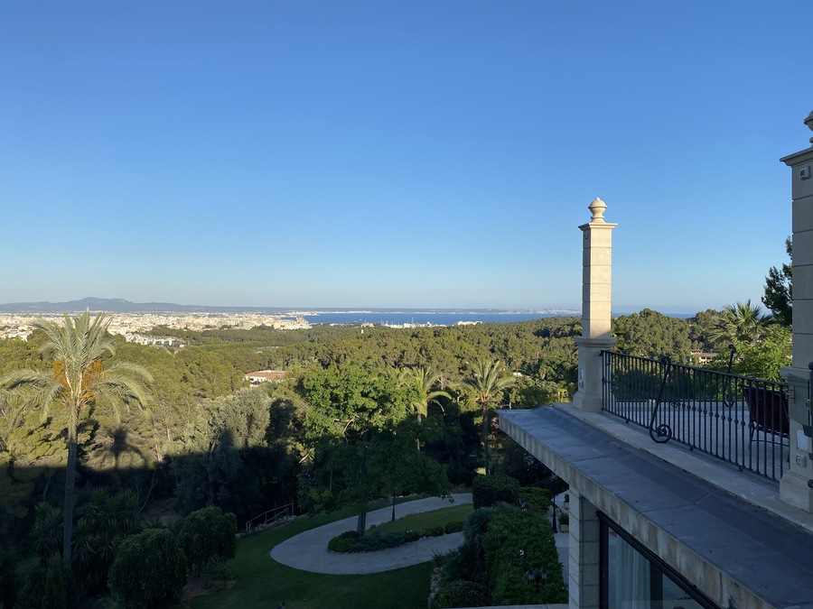 Castillo Hotel Son Vida terrace view