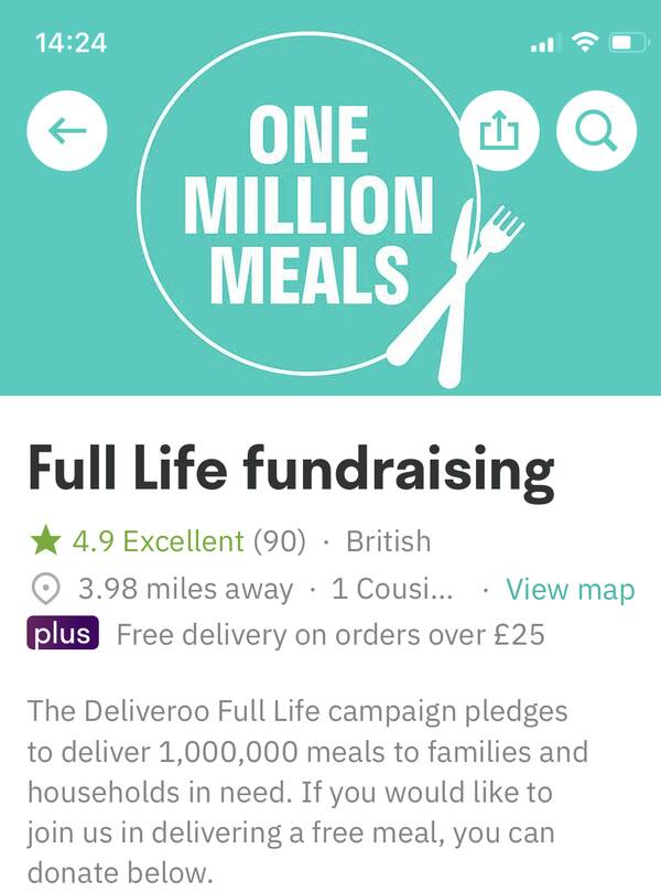 How to donate your £10 Deliveroo credit from Amex Gold to charity