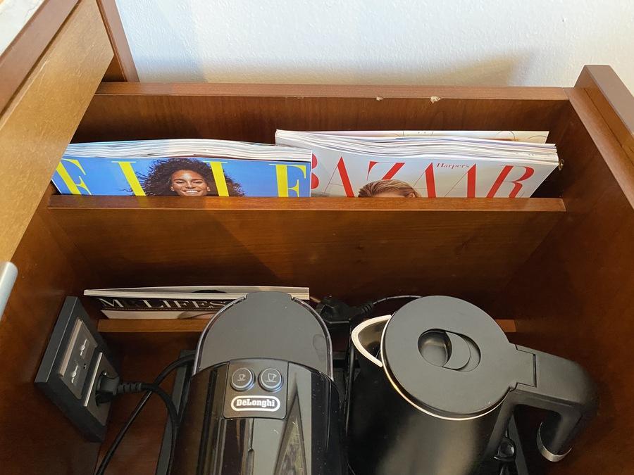 St Regis Mardavall room magazines