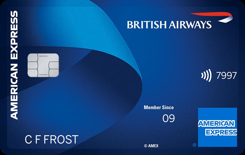 British Airways BA Amex American Express card